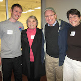 Paul Mathieson (Dover Squash Pro), Wendy Berry, Dan Reagan, Susan Greene