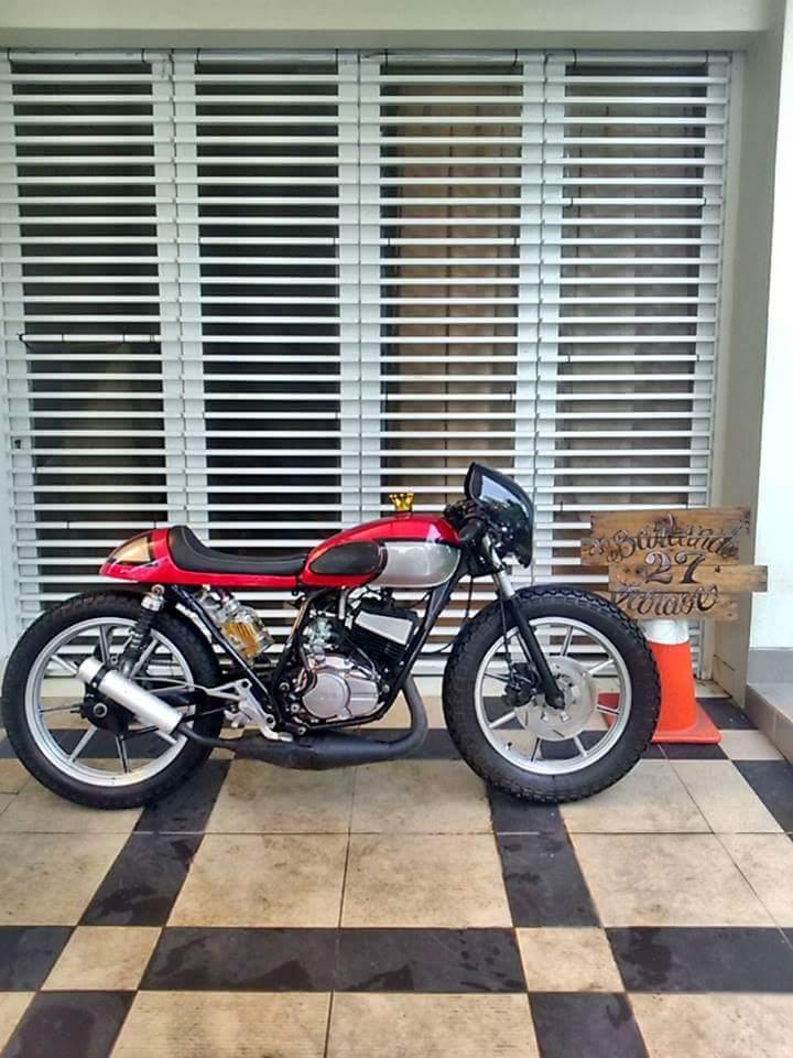 lapak motor kustom cafe racer basic rxz yamaha - bekasi - lapak