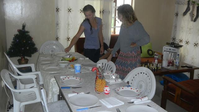 the Christmas table, Christmas Mochudi 2011