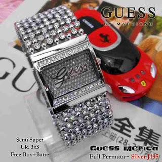 jam tangan Guess full silver logo