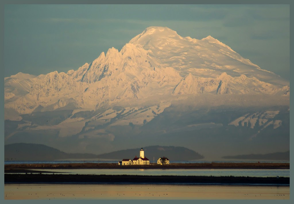 """""""Dungeness Lighthouse & Mt. Baker"""" by Tim Snyder - 2nd Place A General"""