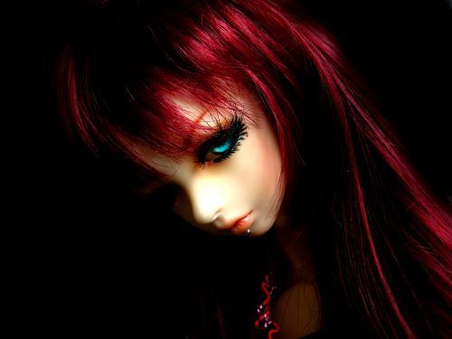 Evil Red Head Doll, Gothic Girls