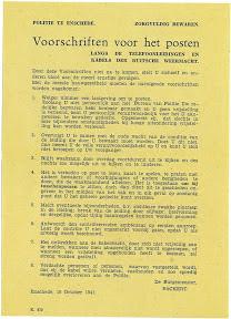 Kabelwacht voorschriften - foto: dhr. Elbersen
