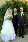 A helyszín Kanizsa, a képen egy vőlegény (Zoli) egy vőfély<br /> és egy menyasszony, kinek neve Fruzsina
