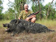 Mr Luke McCormack, Australia with an enormous boar of 130kg+
