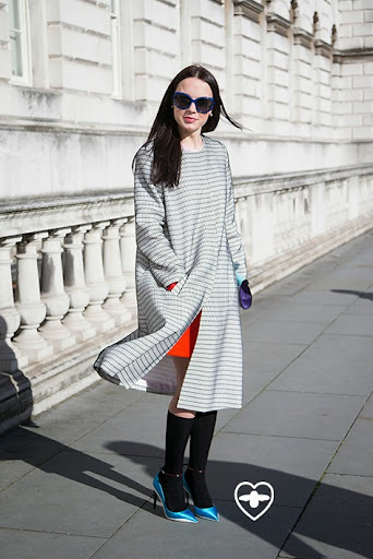 Yasya Minochkina; fashion designer; Yasya coat; Yasa dress; Dior glasses; Dior clutch; Dior shoes; Topshop socks;