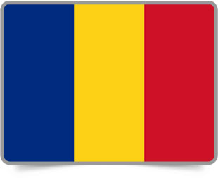 Romanian framed flag icons with box shadow