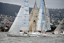 J/35 MEM sailing River Derwent, Hobart, Tasmania