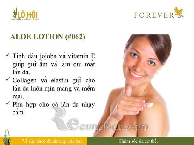 Kem dưỡng da lô hội Aloe Lotion mã số 062