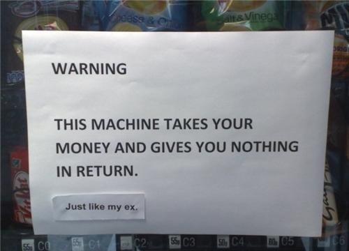 This Vending Machine Just Like My Ex