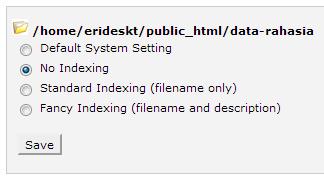 Pilihan index page