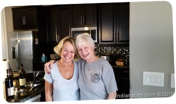 Margie Hurley and Nancy Hurley, having some time together in her new home near Orlando, FL.