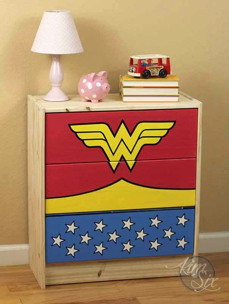 Superhero painted dresser