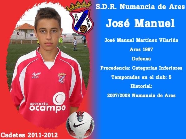 ADR Numancia de Ares. Cadetes 2011-2012. JOSE MANUEL.