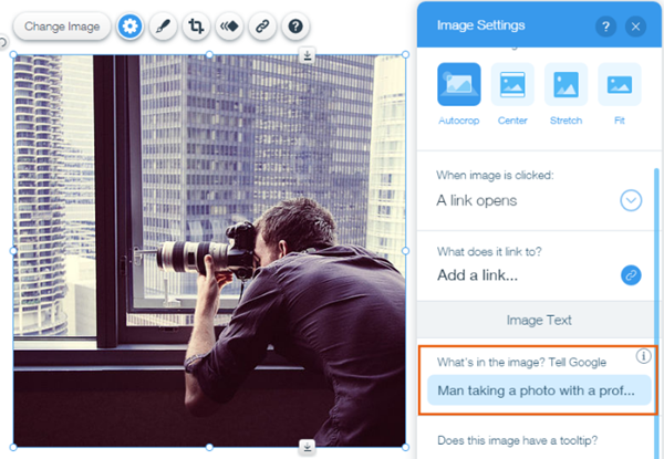 Optimizing Images in Wix Website Builder