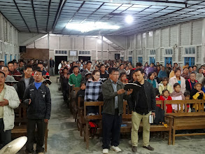 Photo: Each evening there was a revival type service that the pastors would attend as well as the local Tening town folks.