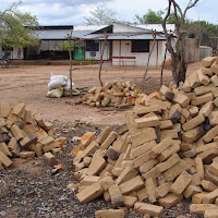 Bricks for the new patient ward project.