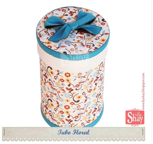 caixa de EVA tubo floral