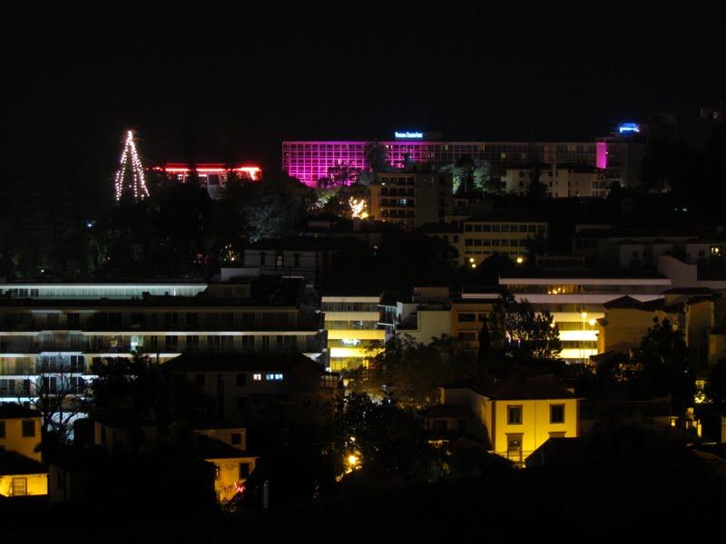 Pestana Casino Park hotel and Casino da Madeira in a night view