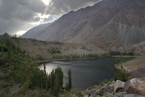 Beautiful & unique panoramic views of Phander Lake, Phander