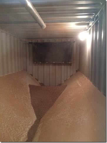 Photo of inside of pellet container