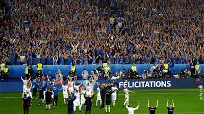 Iceland football fans at the EURO 16