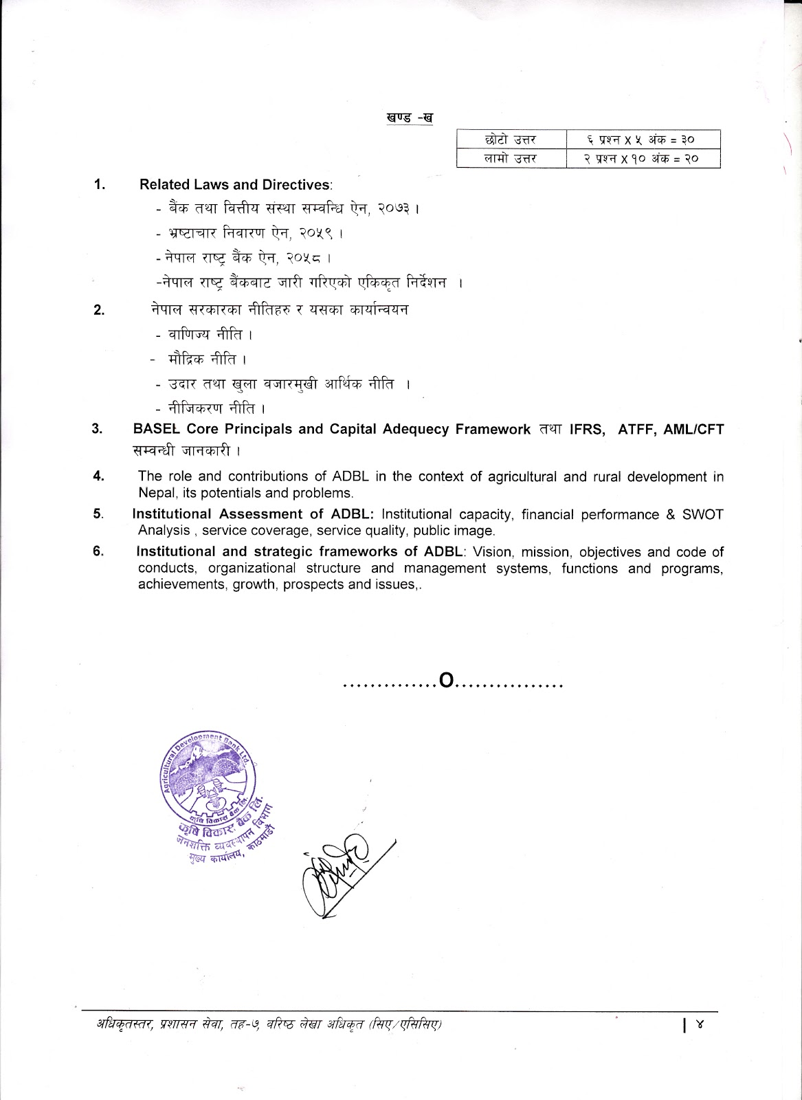 Syllabus for Level -7 Senior Account Officer(CA)