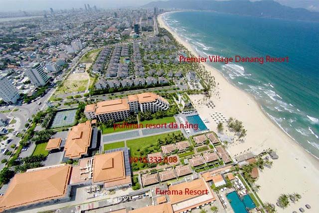 ảnh chụp flycam view toàn resort biển đà nẵng