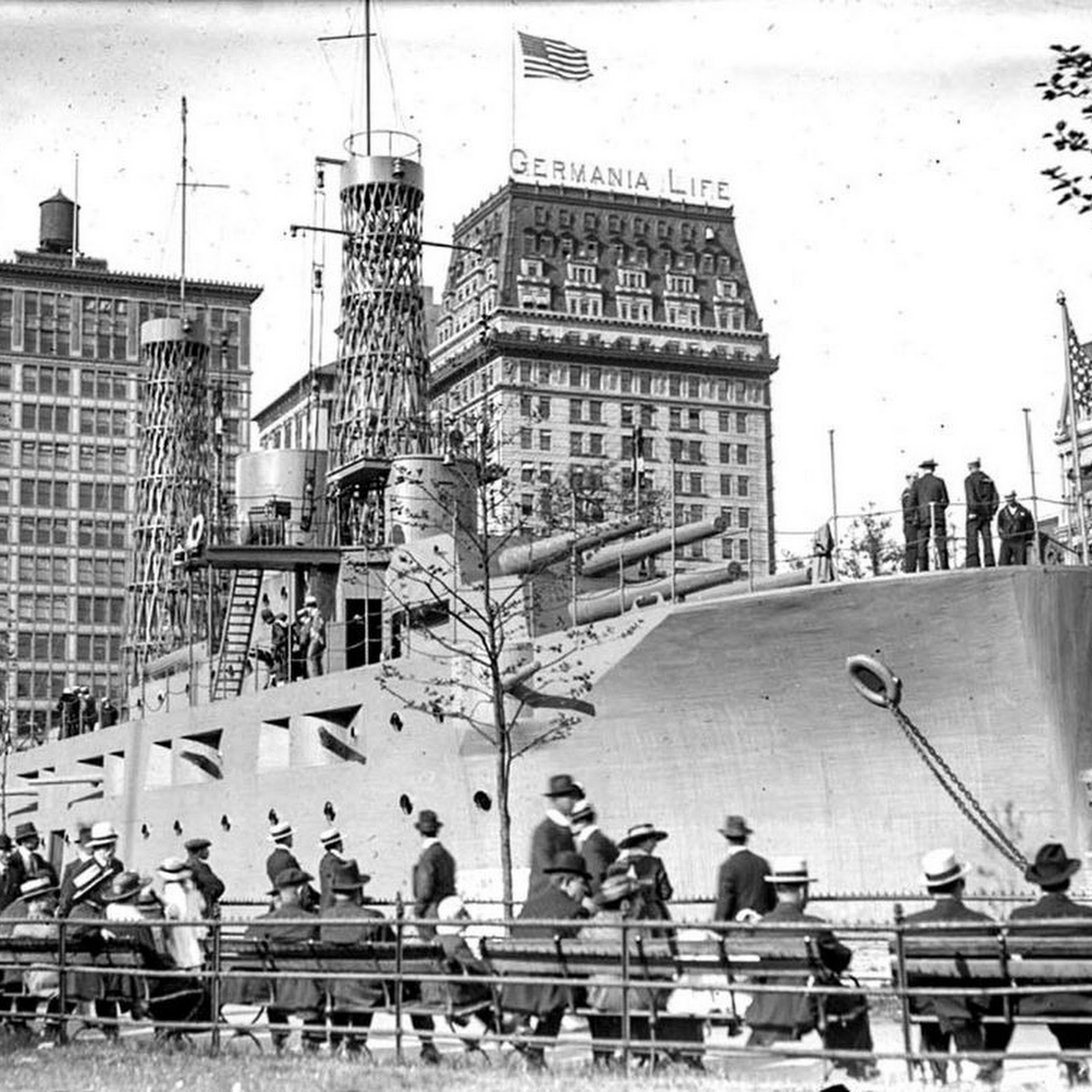 USS Recruit: The Battleship That Sprang Up In The Middle of New York City