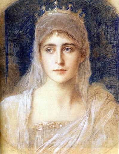 Friedrich August von Kaulbach - Grand Duchess Elizabeth Fyodorovna