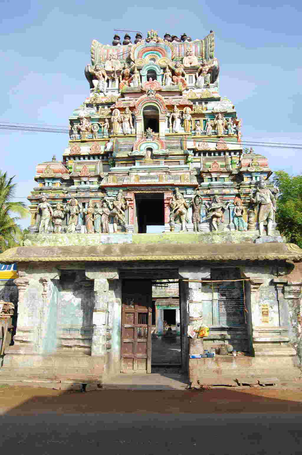 Main Gopuram Of Thoovainathar Temple