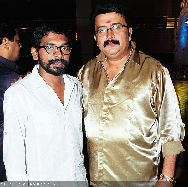 Mamas and Sai Kumar during Vinu Mohan, Vidya's wedding reception held in Kerala.