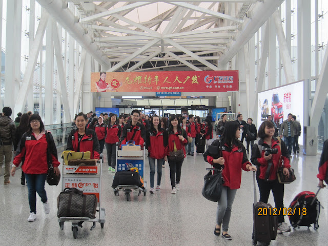Pengantaran dipimpin BLCI ketika tiba di Guangzhou Airport