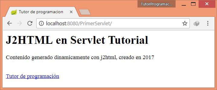 Generar HTML con Java en Servlet