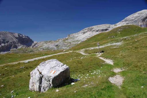 Sentier débonnaire sur le plateau.