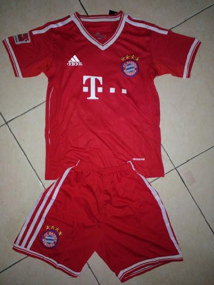 Jual Jersey Anak Bayern Munchen Home 2014