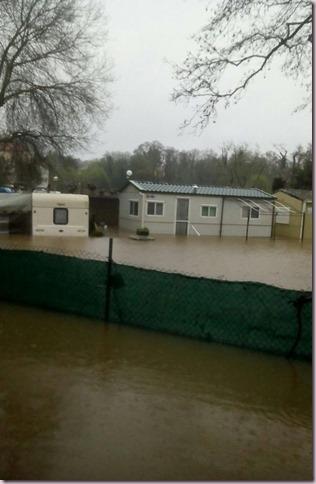 Inundaciones en el cámping de Gandarío, Bergondom