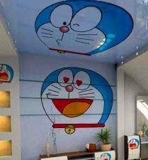 Desain Lukisan Mural Doraemon Di Dinding