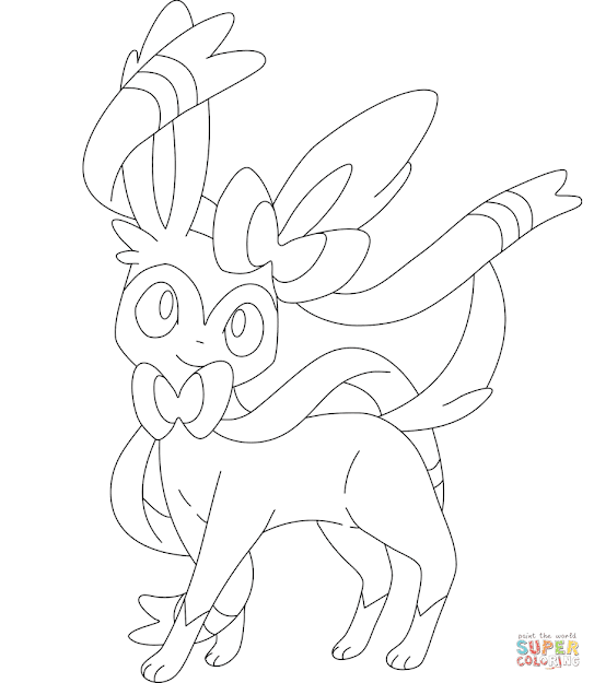Pokmon And  Click The Sylveon Coloring Pages To View Printable  Version Or Color It Online Patible With Ipad And Android Tablets