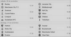 jornada 13 partidos premier league 2016-2017