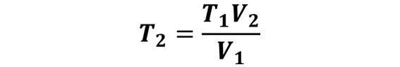Las leyes de los gases: de boyle, de Charles, de Gay Lussac, de Avogadro y de Dalton - Despeje de la ley de Charles cuando se desconoce T2 pero se conoce T1, V1 y V2 - sdce.es - sitio de consulta escolar