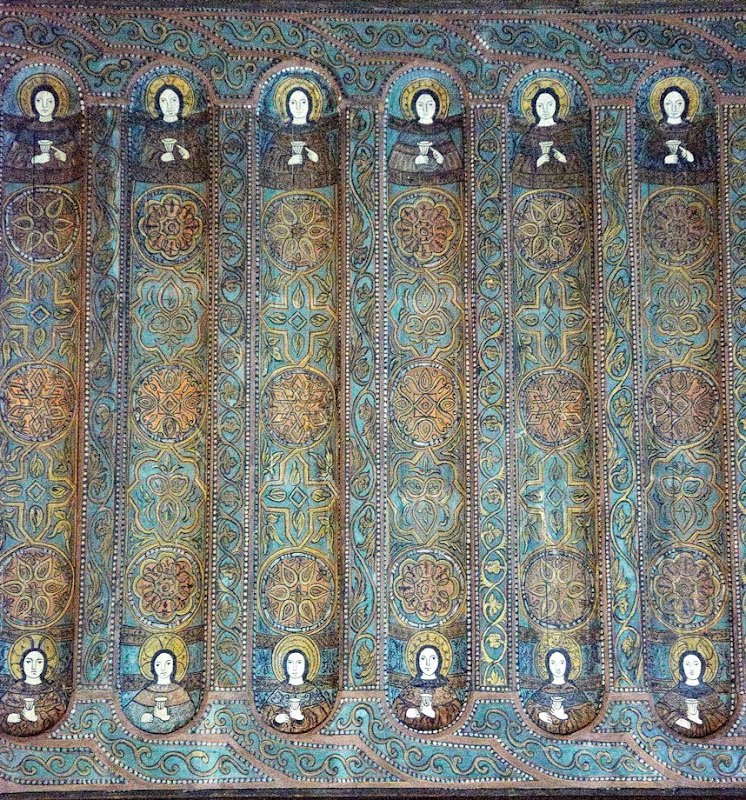 39. Fragment of wooden selling. XII Century. The Palatine Chapel. Palermo. Sicily. 2013