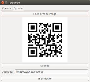 Crear códigos QR en Ubuntu - descifrar