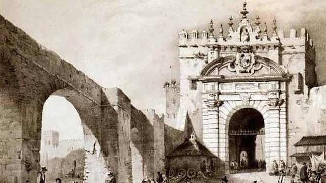 Puerta de Carmona y parte de la muralla