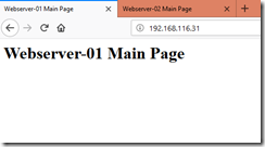 Webserver-01 Main Page