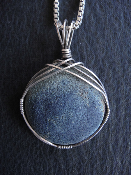 Pfanstiehl studio nina hope pfanstiehl ceramics jewelry planet ceramic raku sterling silver pendant by nina hope pfanstiehl aloadofball Choice Image