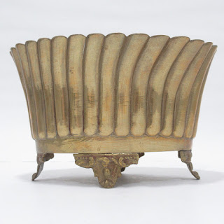 Brass Scalloped Jardiniere
