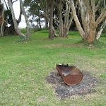 Fire pit at Dees Corner