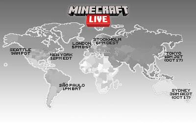 Horários da transmissão do Minecraft Live de 2021