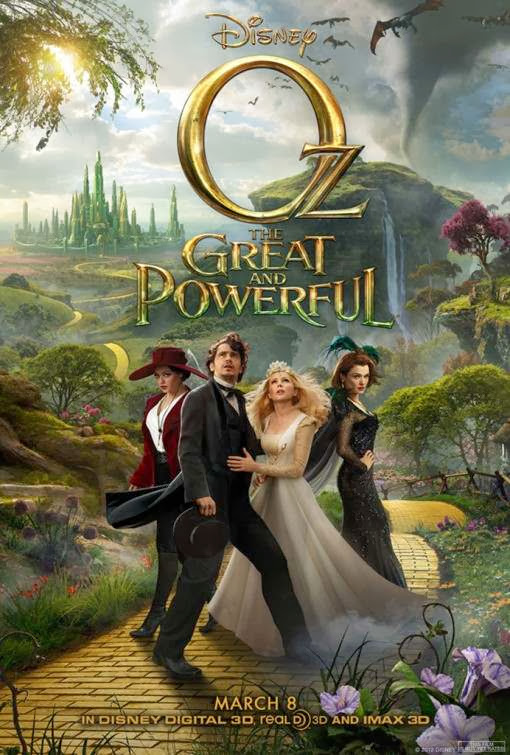 Poster Of English Movie Oz the Great and Powerful (2013) Free Download Full New Hollywood Movie Watch Online At Alldownloads4u.Com